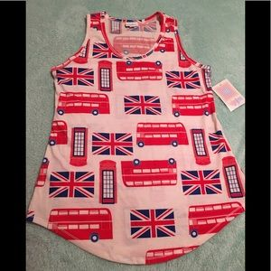 LuLaRoe Tops - LuLaRoe British Theme Tank Top